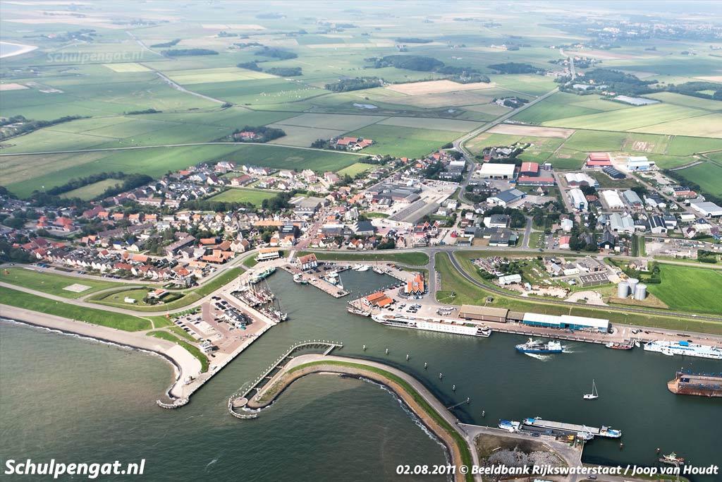 De haven van Oudeschild op het Waddeneiland Texel