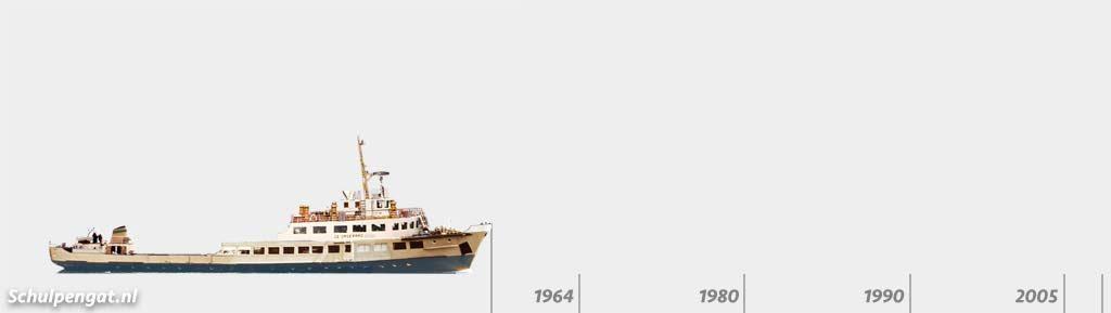 Zijaanzicht TESO-vloot De Dageraad (1955)