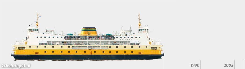 Zijaanzicht TESO-vloot Molengat (1980)