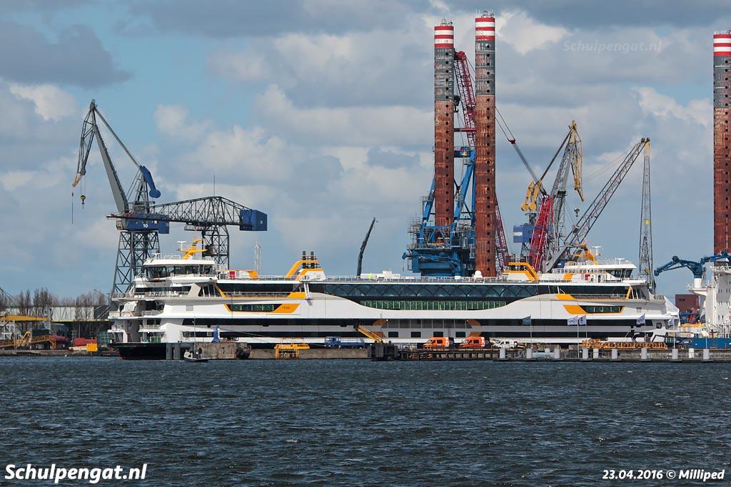De ferry Texelstroom van de TESO-bootdienst werd in Spanje gebouwd