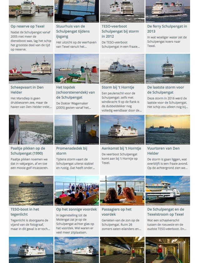 De meeste TESO-schepen op de website Schulpengat.nl hebben een eigen fotopagina