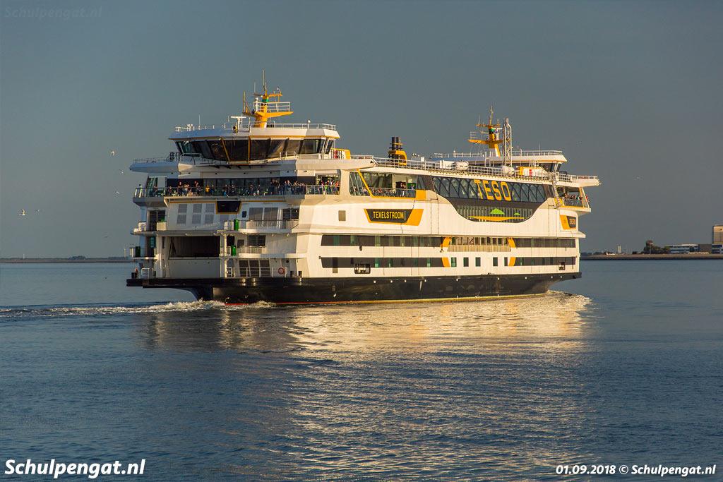 Het vlaggenschip van de veerdienst naar Texel is de milieuvriendelijke veerboot Texelstroom