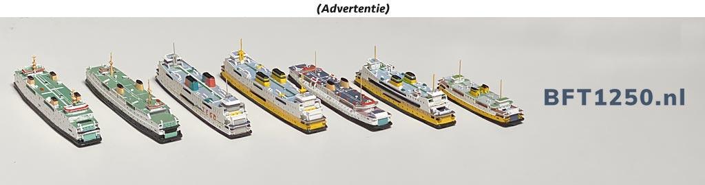 Advertentie BFT1250-schaalmodellen veerboten